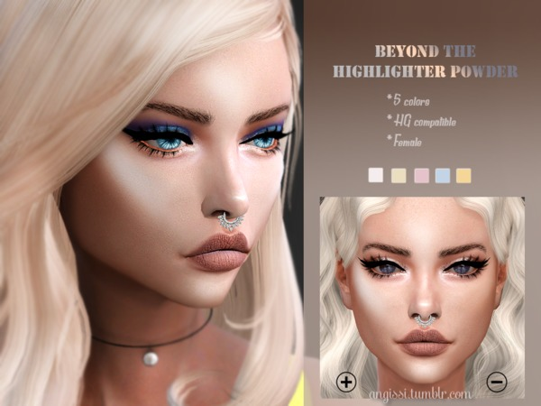 BEYOND THE HIGHLIGHTER POWDER by ANGISSI at TSR image 794 Sims 4 Updates
