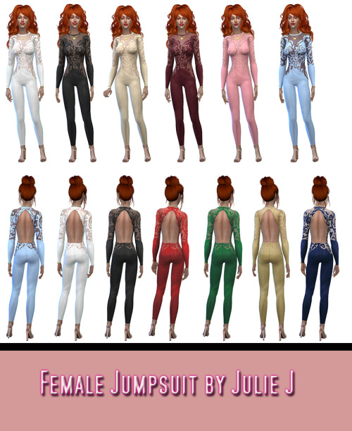Sims 4 Female Jumpsuit at Julietoon – Julie J