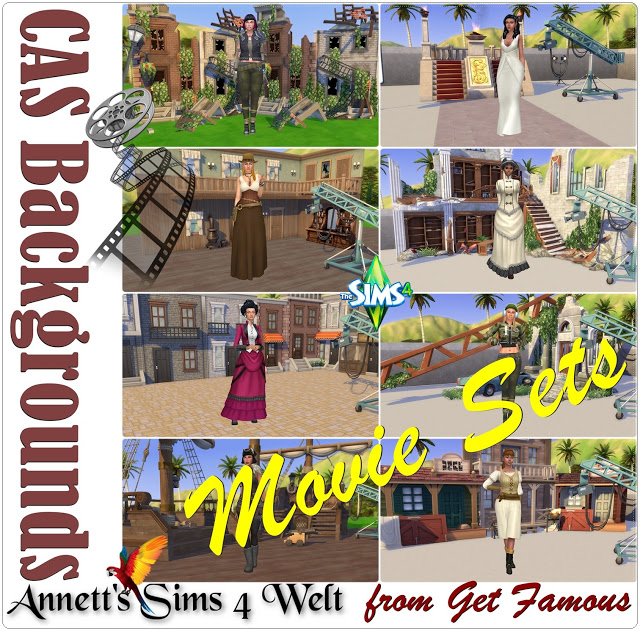 CAS Backgrounds Movie Sets from Get Famous at Annett's Sims 4 Welt image 8513 Sims 4 Updates