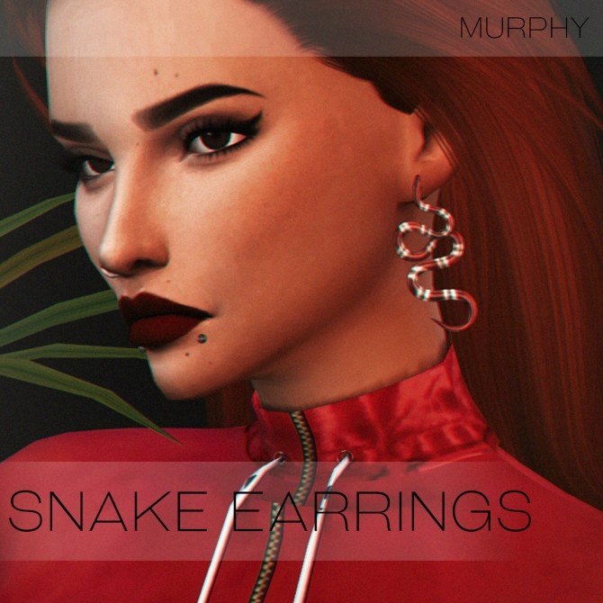 Sims 4 Snake Earrings by Victoria Kelmann at MURPHY