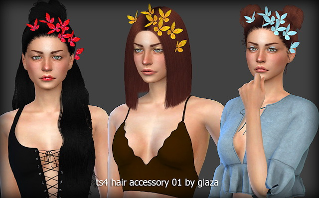 Sims 4 Hair accessory 01 at All by Glaza