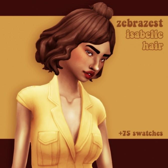 Sims 4 Zebrazest's isablelle hair recolour at cowplant pizza