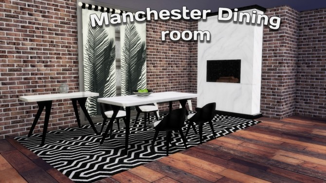 Sims 4 Manchester Dining Room at Simming With Mary