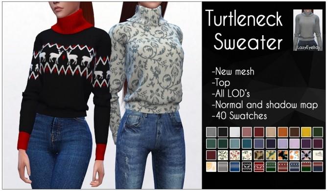 Turtleneck sweater F at LazyEyelids image 9218 670x391 Sims 4 Updates