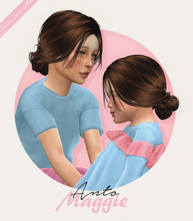 Anto Maggie hair for kids and toddlers at Simiracle image 9220 670x767 Sims 4 Updates