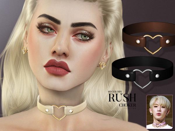 Sims 4 Rush Choker by Pralinesims at TSR