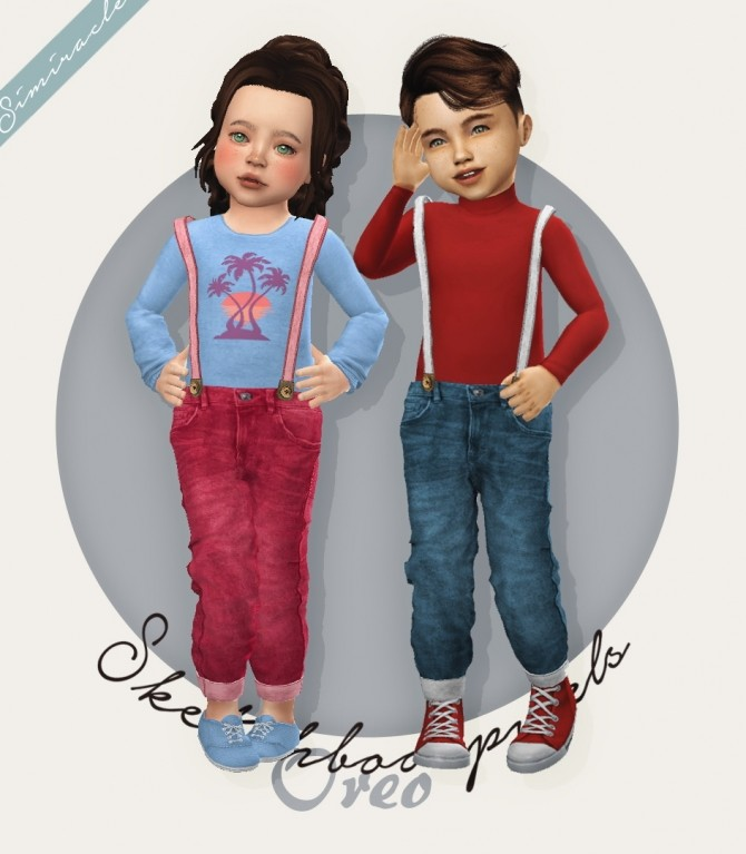 Sketchbookpixels Oreo 3T4 suspenders for toddlers at Simiracle image 9312 670x767 Sims 4 Updates