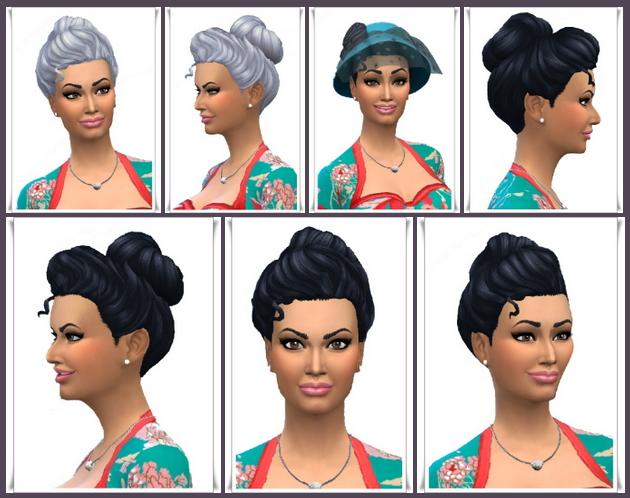 Sims 4 Victorian Bun Small at Birksches Sims Blog