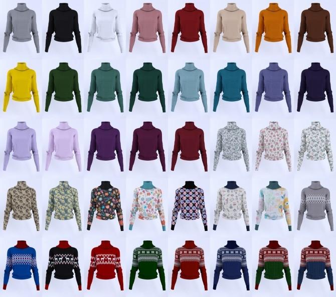 Turtleneck sweater F at LazyEyelids image 9318 670x593 Sims 4 Updates
