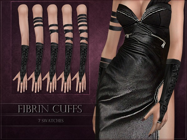 Sims 4 Fibrin Cuffs by RemusSirion at TSR