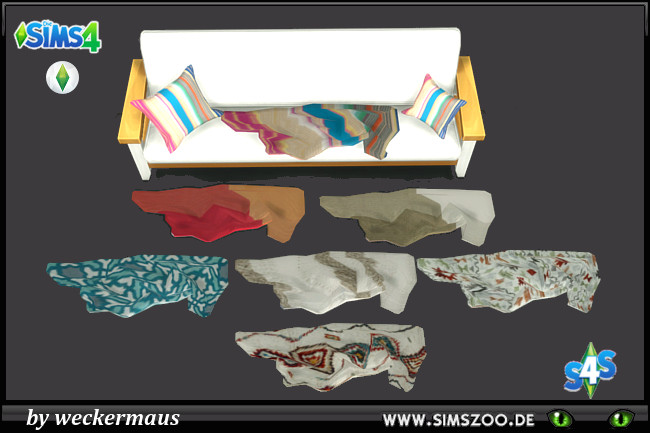 Sims 4 Sofa blanket by weckermaus at Blacky's Sims Zoo