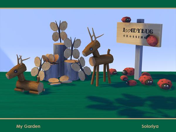 Sims 4 My Garden set by soloriya at TSR