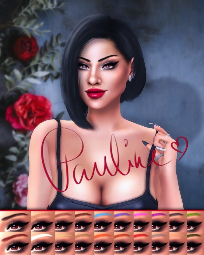 Pauline Eyebrows at Katverse image 981 670x838 Sims 4 Updates