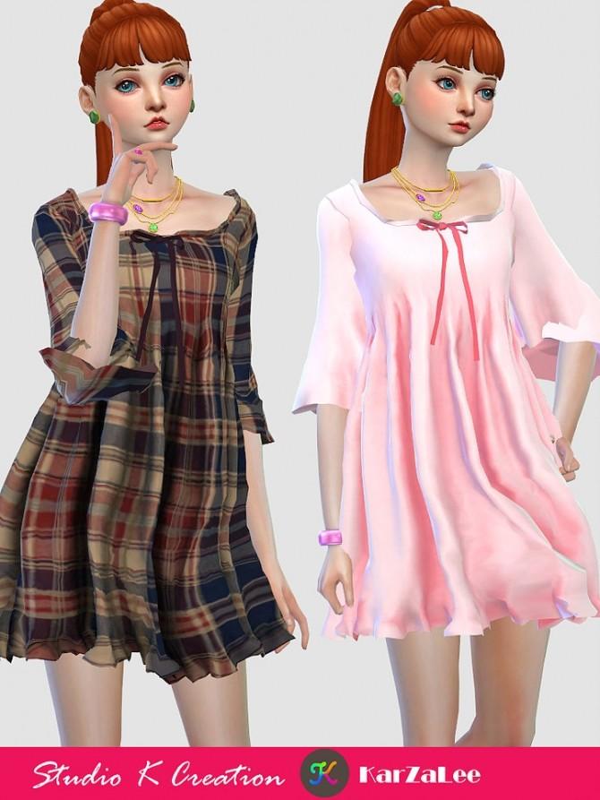 T03 Square neckline short dress at Studio K Creation image 9813 670x893 Sims 4 Updates