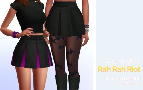 Sims 4 Rah Rah Riot high waisted mini skirt at Joliebean