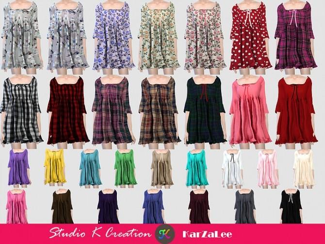 T03 Square neckline short dress at Studio K Creation image 9913 670x502 Sims 4 Updates