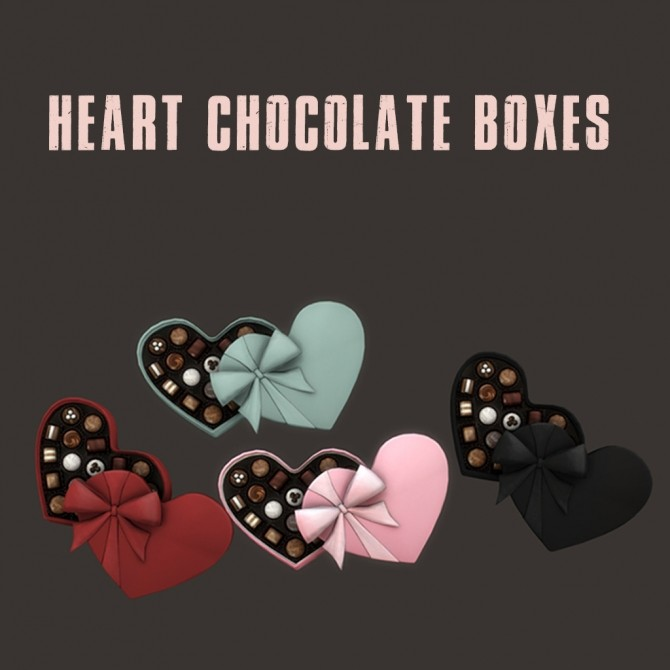 Sims 4 Heart Chocolate Boxes at Leo Sims