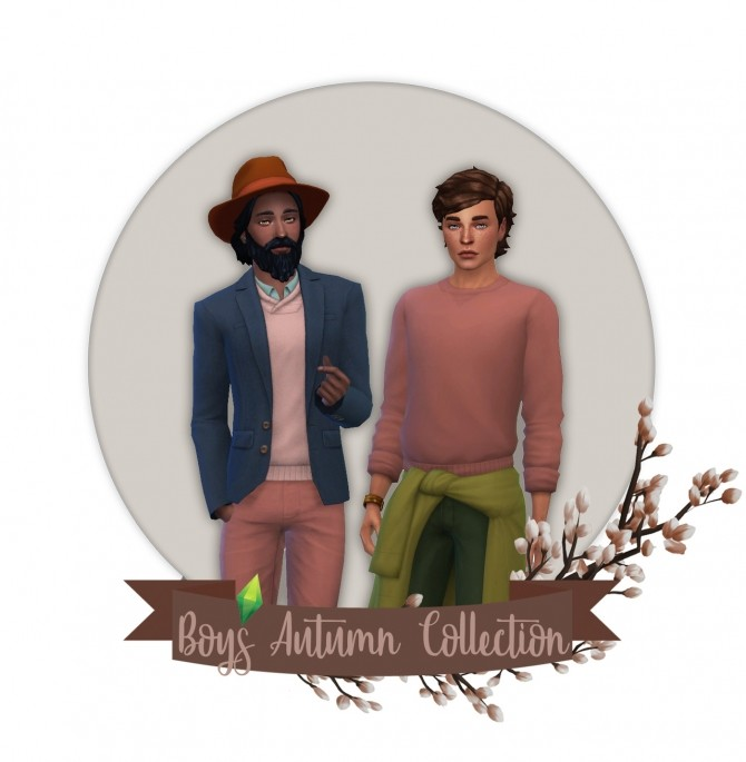 Sims 4 Boys' Autumn Recolor Collection at Miss Ruby Bird