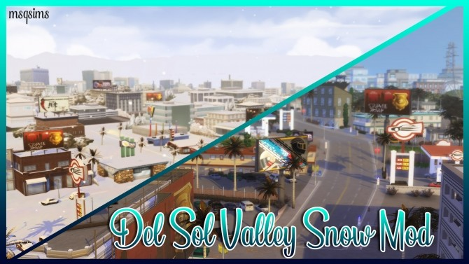 Sims 4 Del Sol Valley Snow Mod at MSQ Sims
