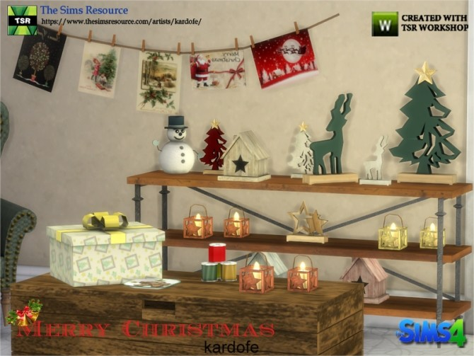 Merry Christmas Decor by kardofe at TSR image 1007 670x503 Sims 4 Updates