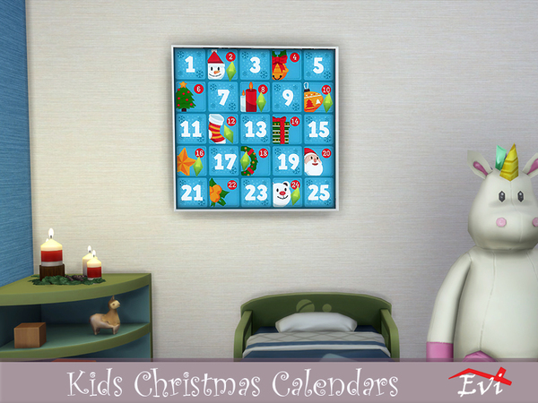 Kids Christmas Calendars by evi at TSR image 1010 Sims 4 Updates