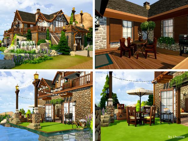 Sims 4 Wood and Stone family villa by Lhonna at TSR