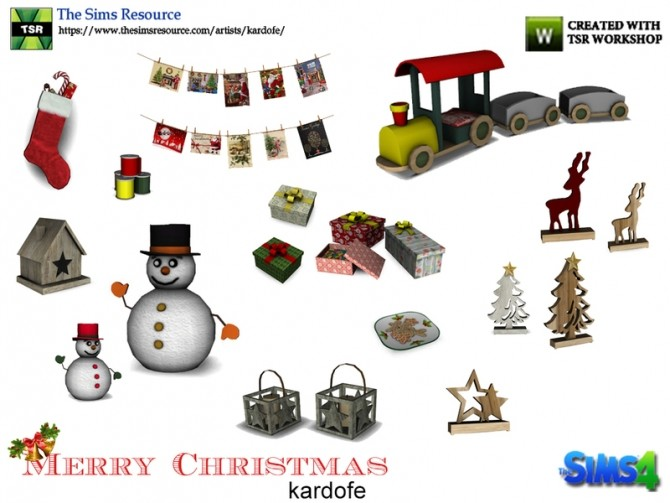 Merry Christmas Decor by kardofe at TSR image 10113 670x503 Sims 4 Updates