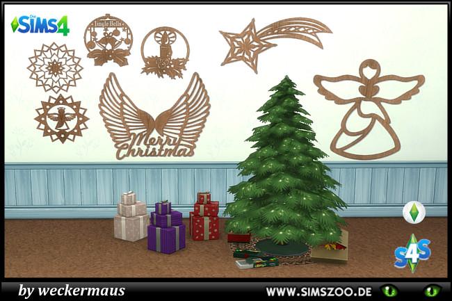 Sims 4 Xmas Wall Tattoos 1 by weckermaus at Blacky's Sims Zoo