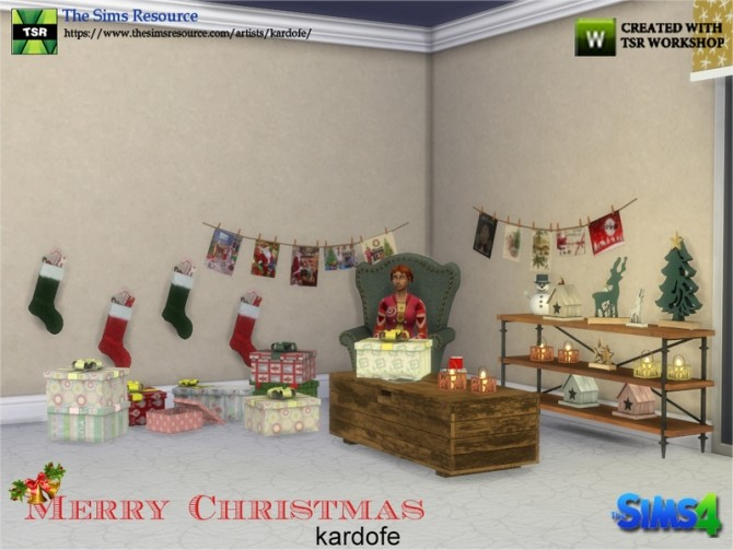 Merry Christmas Decor by kardofe at TSR image 10210 670x503 Sims 4 Updates