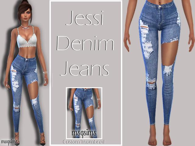 Jessi Denim Jeans at MSQ Sims image 10311 Sims 4 Updates