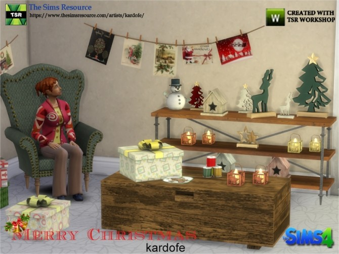 Merry Christmas Decor by kardofe at TSR image 1038 670x503 Sims 4 Updates