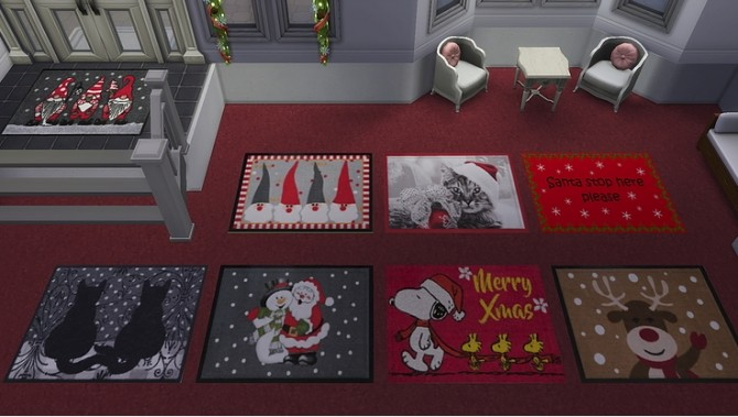Its Christmas time! festive rug and canvas by Ivyrose at Blooming Rosy image 10412 670x379 Sims 4 Updates