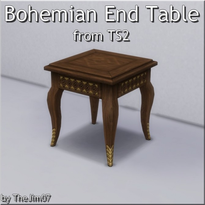 info for 311ea a6790 Bohemian End Table from TS2 by TheJim07 at Mod The Sims ...