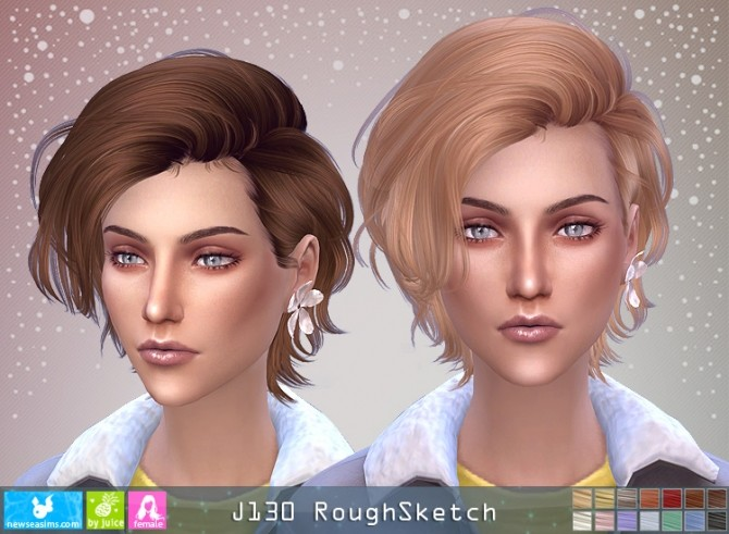 J130 RoughSketch hair F (P) at Newsea Sims 4 image 1046 670x491 Sims 4 Updates