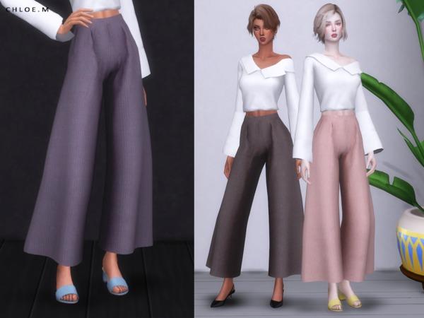 Sims 4 Loose Pants by ChloeMMM at TSR