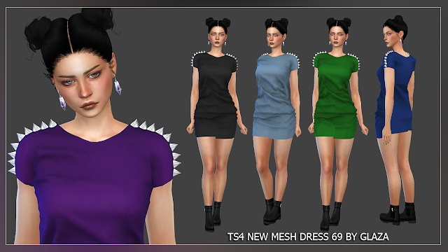 Dress 69 at All by Glaza image 1053 Sims 4 Updates