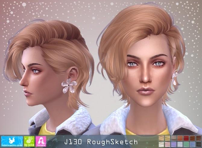 Sims 4 J130 RoughSketch hair F (P) at Newsea Sims 4