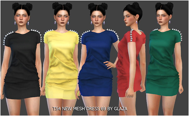 Dress 69 at All by Glaza image 1064 Sims 4 Updates