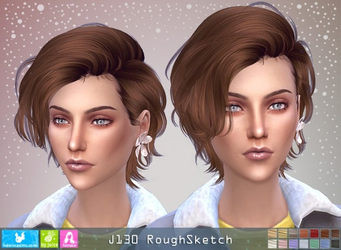J130 RoughSketch hair F (P) at Newsea Sims 4 image 1066 670x491 Sims 4 Updates