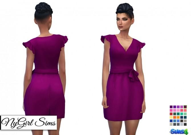 Sims 4 Ruffle Sleeve Smock Dress at NyGirl Sims