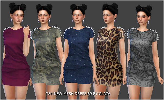 Dress 69 at All by Glaza image 1074 Sims 4 Updates