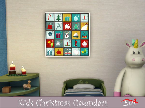 Kids Christmas Calendars by evi at TSR image 1110 Sims 4 Updates