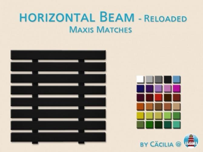 Sims 4 Horizontal Beam Reloaded by Cacilia at Akisima