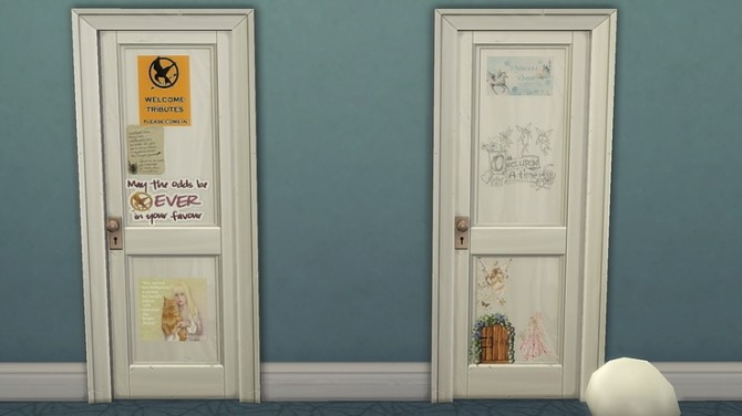 Kids personalised bedroom doors by Ivyrose at Blooming Rosy image 1113 670x376 Sims 4 Updates