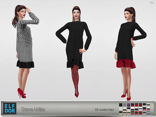 Lidia dress at Elfdor Sims image 11216 Sims 4 Updates