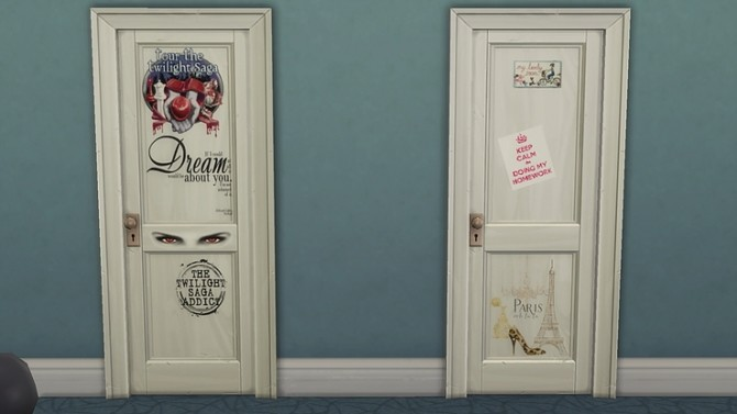 Kids personalised bedroom doors by Ivyrose at Blooming Rosy image 1122 670x377 Sims 4 Updates