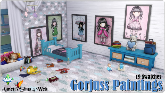Gorjuss Paintings at Annett's Sims 4 Welt image 1131 Sims 4 Updates