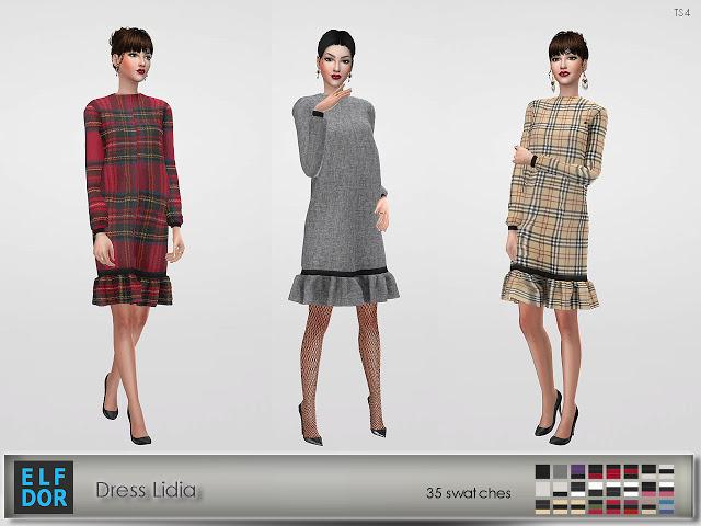 Lidia dress at Elfdor Sims image 11316 Sims 4 Updates