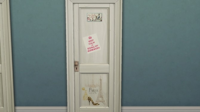 Kids personalised bedroom doors by Ivyrose at Blooming Rosy image 1132 670x376 Sims 4 Updates