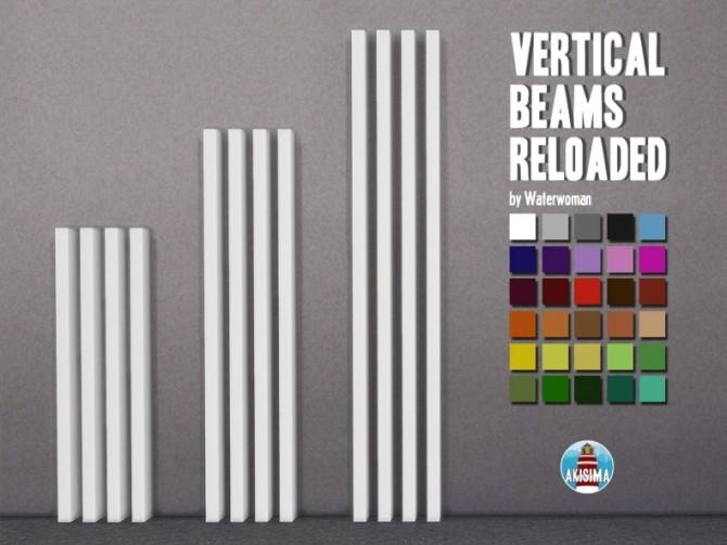 Sims 4 Vertical Beams Reloaded by Waterwoman at Akisima